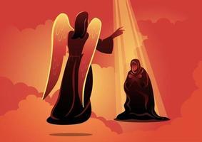 ange visite marie illustration vectorielle vecteur