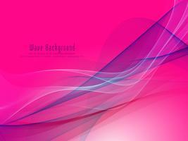Abstrait coloré vague rougeoyante