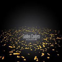 Abstrait moderne confetti doré vecteur