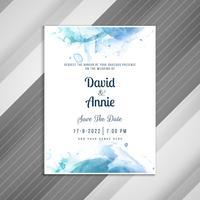 Modèle de carte d'invitation de mariage élégant abstrait vecteur