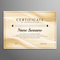 Design de fond abstrait certificat ondulé