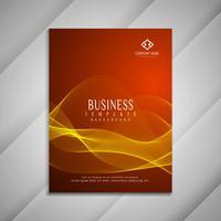 Conception de modèle de brochure abstrait affaires ondulées