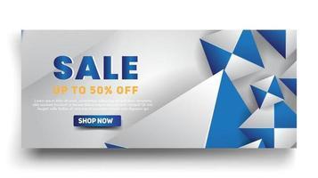 conception de modèle de bannière de vente et offre spéciale de grande vente avec bannière offre spéciale de fin de saison vecteur