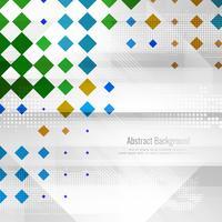 Abstrait élégant polygonale coloré
