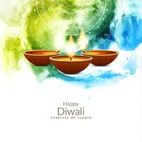 Abstrait religieux joyeux Diwali vecteur