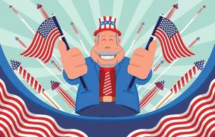 célébration de la fête de l'indépendance américaine vecteur