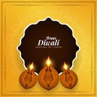 Résumé fond de festival indien heureux Diwali vecteur