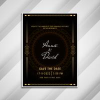 Conception de carte élégante invitation de mariage abstrait vecteur