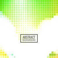 Fond de mosaïque verte abstraite vecteur