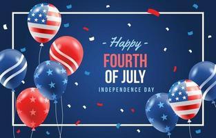 célébrer la fête de l'indépendance avec ballon vecteur