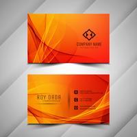 Modèle élégant de carte de visite coloré abstrait ondulé