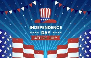 quatrième de juillet contexte de la fête de l'indépendance vecteur