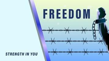 fond de lutte pour la liberté vecteur