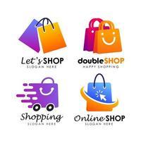 vecteur de conception de logo de magasin de magasinage