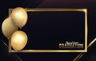 cadre photo de remise des diplômes avec ballon vecteur