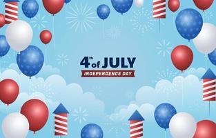 4 juillet fond de ciel vecteur