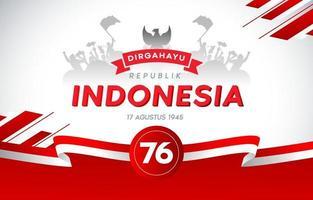 75e jour de l'indépendance de l'Indonésie vecteur
