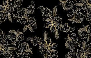 batik doré et noir vecteur
