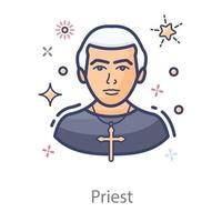 prêtre ministre en romain vecteur