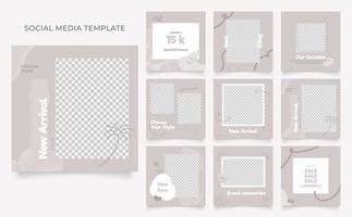 modèle de médias sociaux blog promotion de vente de mode entièrement modifiable cadre de publication carrée de médias sociaux bannières de vente organique vecteur
