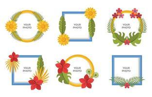 beau cadre fleuri pour votre avatar vecteur
