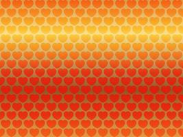 illustration de fond vectorielle continue de saint valentin avec motif coeur rouge sur un fond d'or réfléchissant vecteur
