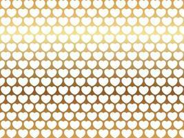 Saint Valentin illustration de fond vectorielle continue avec motif coeur blanc sur un fond d'or réfléchissant vecteur