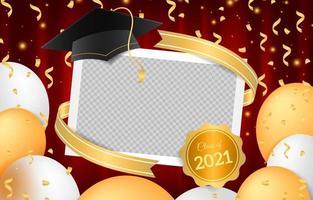cadre photo photobooth de remise des diplômes réaliste vecteur