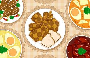 plats pour la célébration islamique vecteur