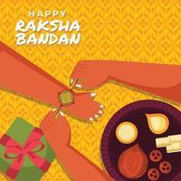 célébrer le rite annuel hindou raksha bandhan vecteur