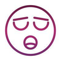 icône de style dégradé dexpression visage émoticône smiley drôle étouffé vecteur