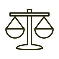 icône de style de ligne d'investissement financier d'économie d'entreprise d'équilibre vecteur