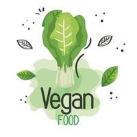 affiche de nourriture végétalienne avec poireau frais vecteur