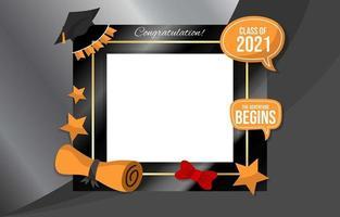 cadre photo de graduation vecteur