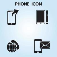 jeu d'icônes de téléphone vecteur
