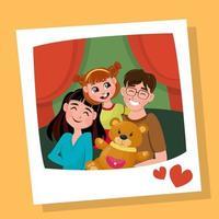 photo de famille heureuse vecteur