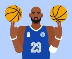 Illustration de basket vecteur