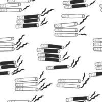 main dessiner des cigarettes de fond pour la journée mondiale sans tabac vecteur