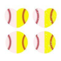 beau vecteur de balle de baseball point rouge isolé sur fond blanc
