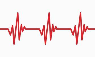 illustration de la ligne de rythme cardiaque trace d'impulsion ecg ou ekg symbole de graphique cardio pour une analyse saine et médicale illustration vectorielle vecteur