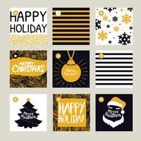 Pack de vecteur étiquettes de cadeau de Noël