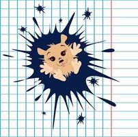 image vectorielle d'un hérisson sous la forme d'une goutte d'une série d'illustrations avec un hérisson vecteur