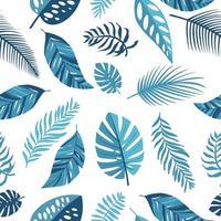 bleu tropical laisse modèle sans couture exotique vecteur