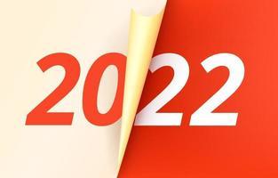heureux nouveau concept de vecteur de l'année 2022 avec reliure en papier