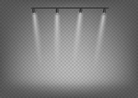 projecteurs projecteurs isolés sur fond transparent vecteur