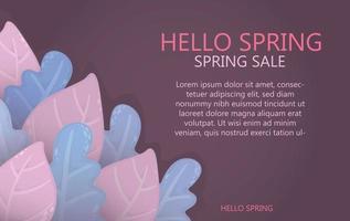 fond de printemps été avec des feuilles fond clair pour les remises informations sur les ventes affiche flyer fond populaire avec designer lumineux feuilles colorées inhabituelles design concept printemps bannière vecteur