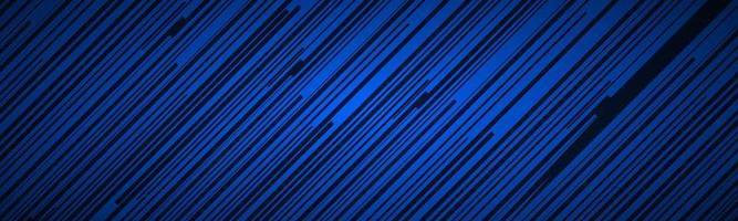 en-tête abstrait sombre avec des lignes obliques bleues et noires motif rayé lignes parallèles et bandes bannière illustration vectorielle de fibre diagonale vecteur