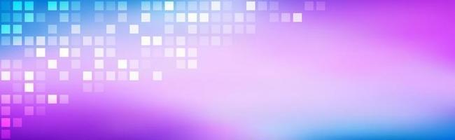 abstrait arc-en-ciel lumineux entendu dégradé bleu violet avec des carrés transparents mosaïque moderne look simple texture satin moderne fond de vecteur