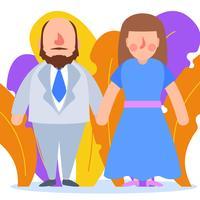 Couple romantique en vêtement de cérémonie