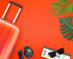 bannière de tourisme et de voyage vecteur